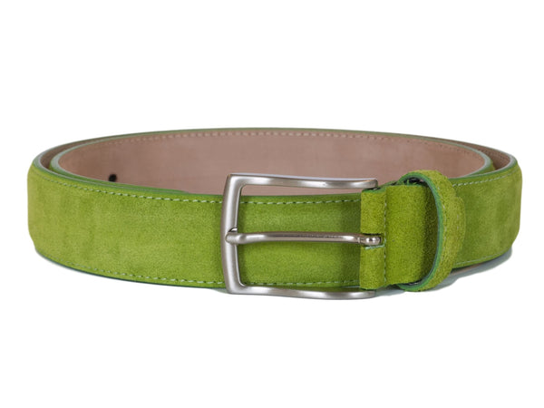 Lime Green Suede Belt - Papavero Range
