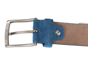 blue belt buckle back