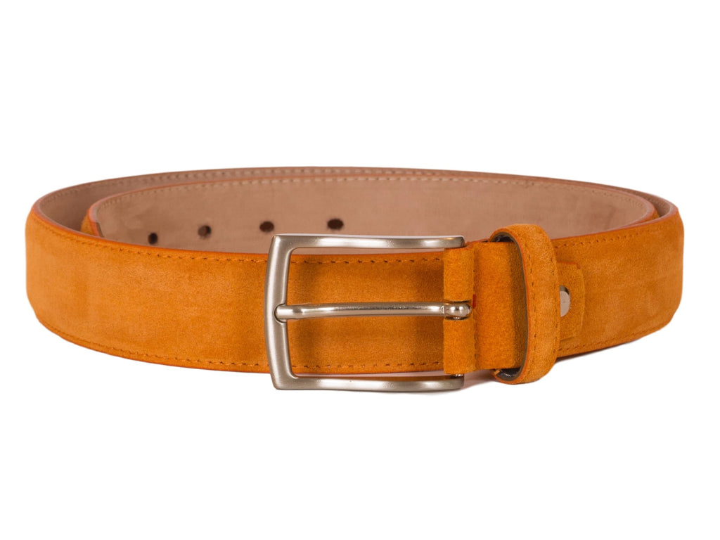 Orange suede belt