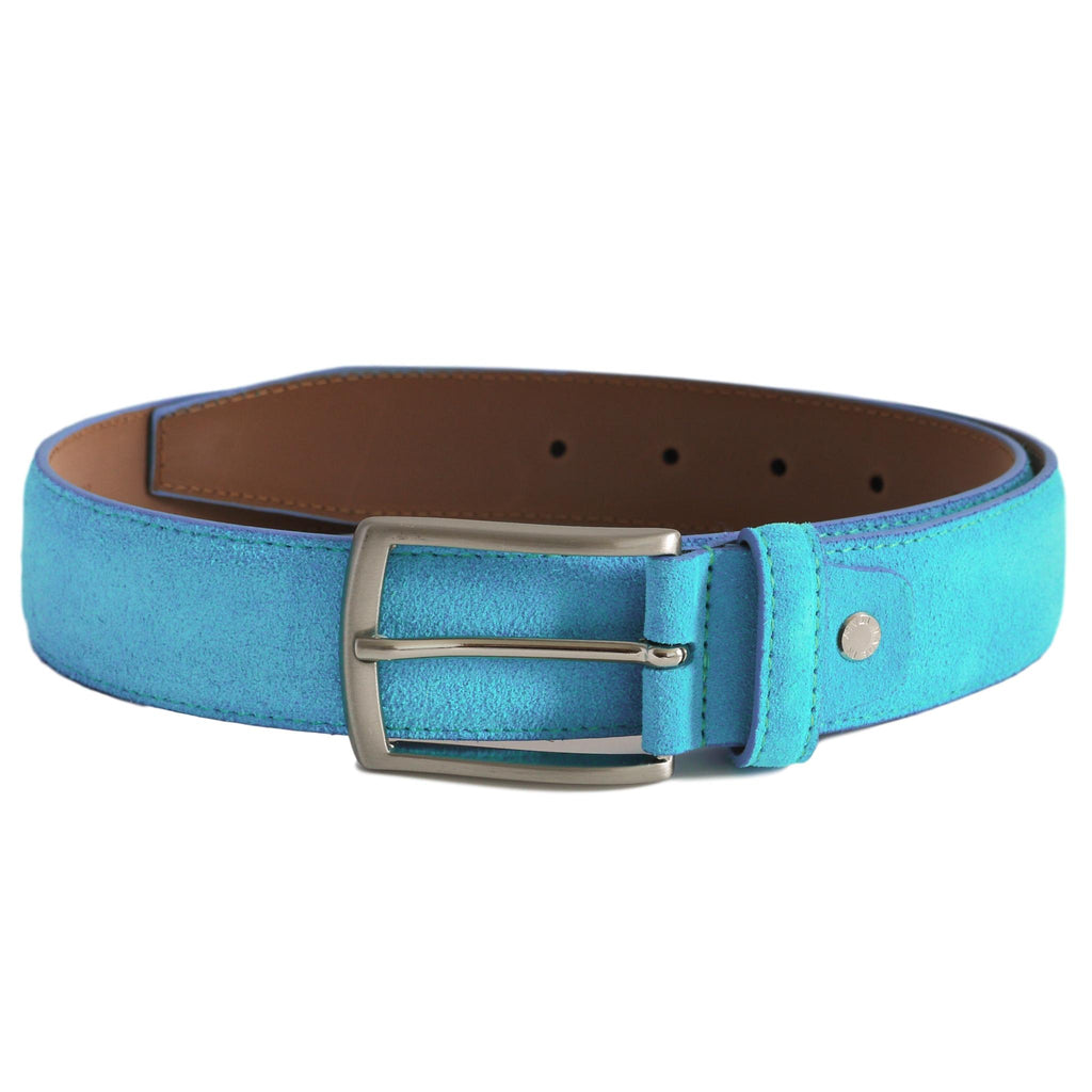 turquoise blue suede leather belt