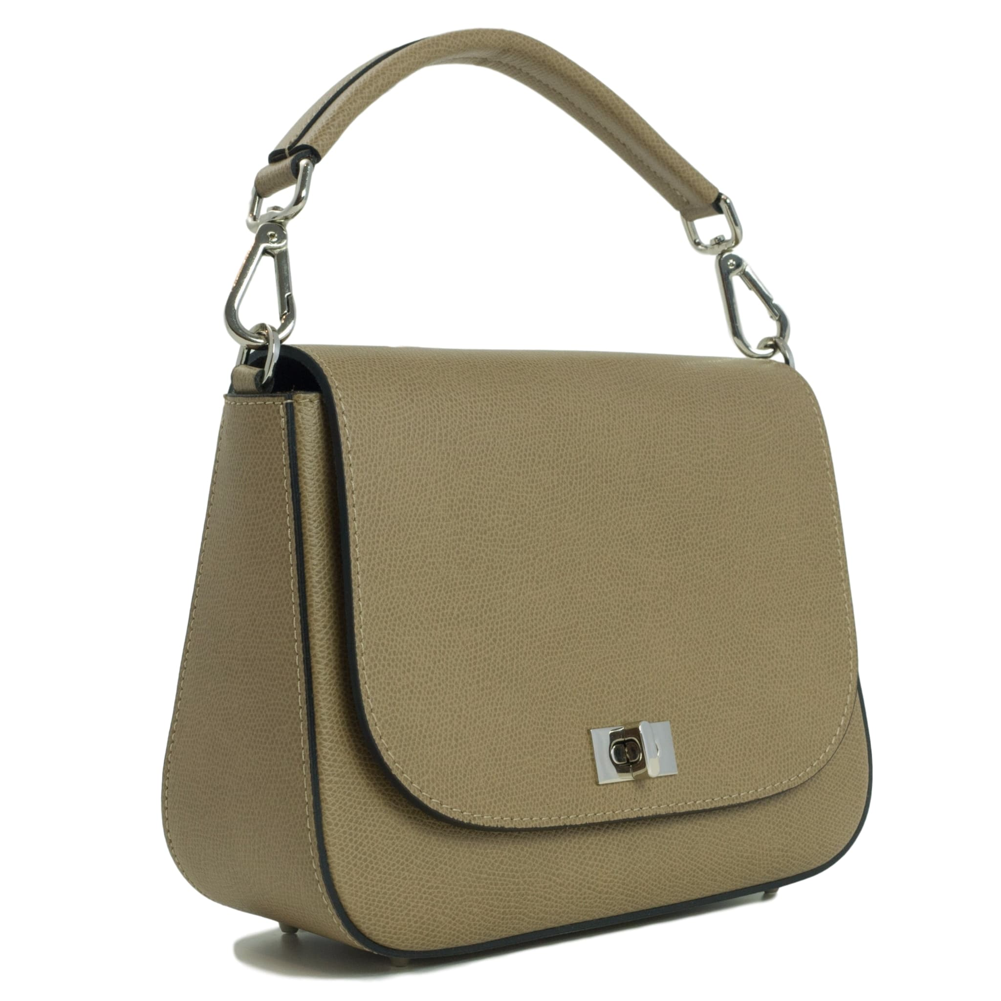 Beige saddle bag