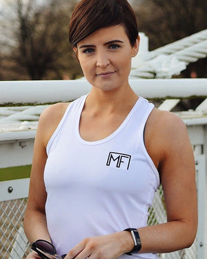 Women's Vest - White Muscle Fit Nation