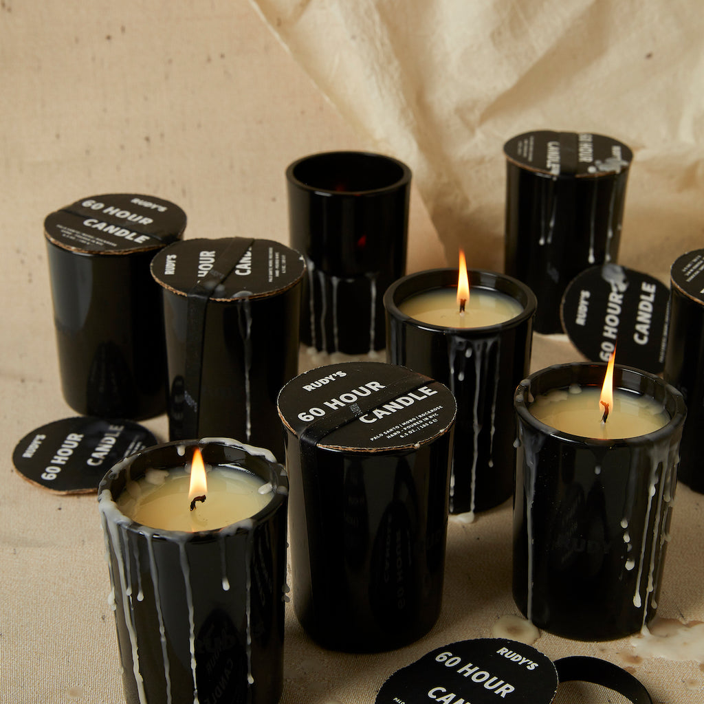Many 60 Hour Candles for your stress relieving pleasure