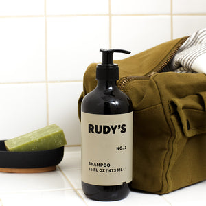 Rudy's Barbershop No. 1 Shampoo in your shower