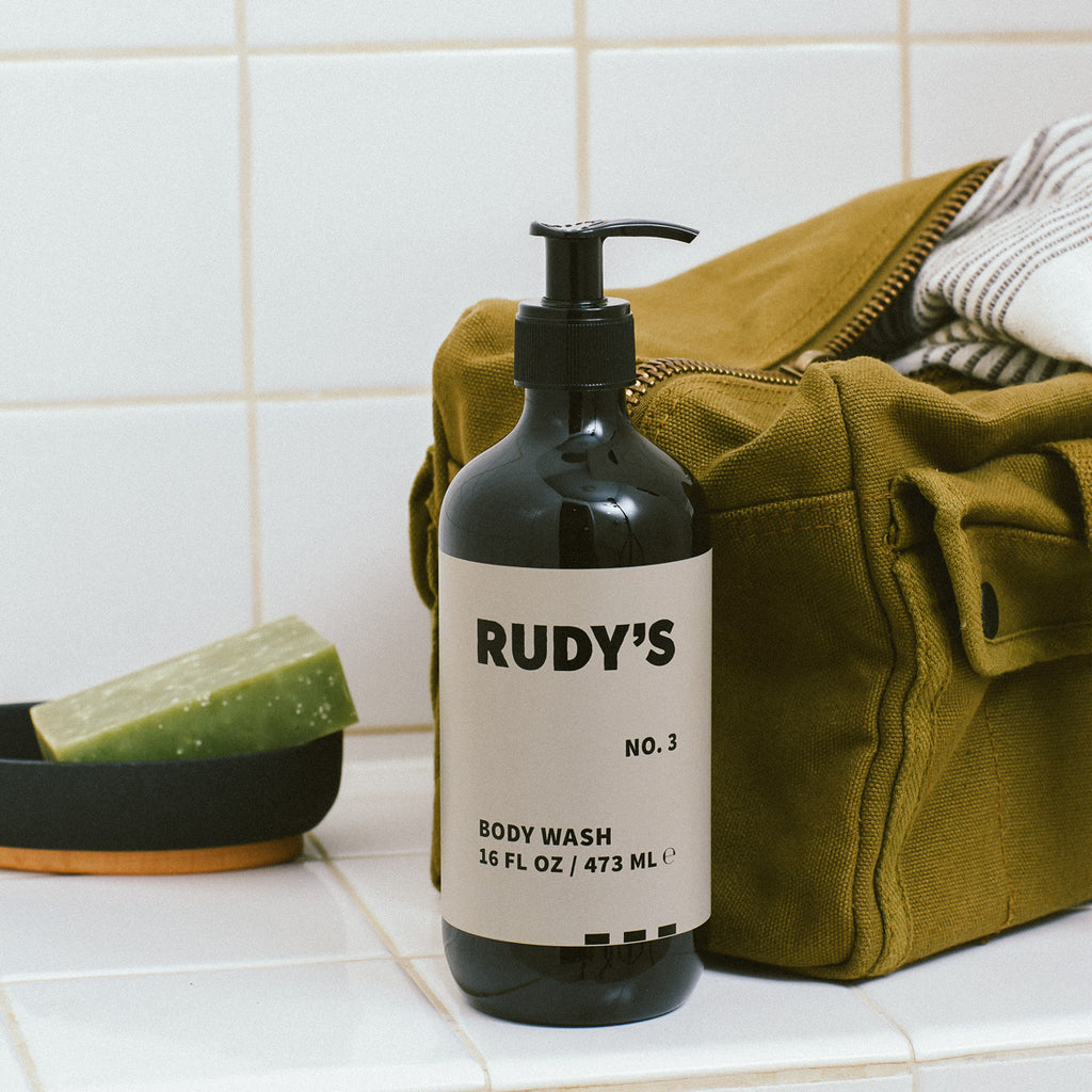 Rudy's Barbershop No. 3 Body Wash in your shower