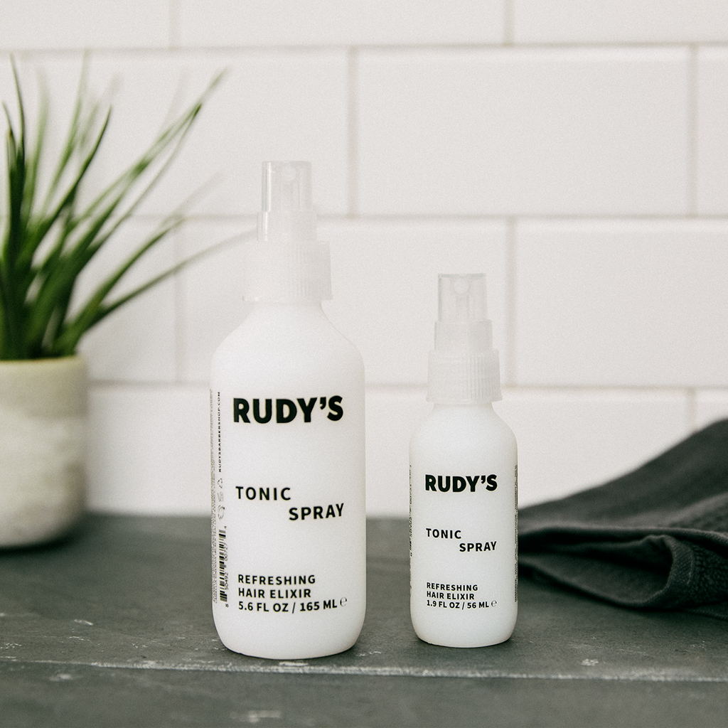 Rudy's Tonic Spray bottles in two formats: Big and Small