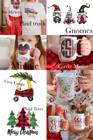 Christmas in July Pre order - Mugs