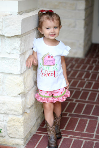 Cherry on top - Birdie Shorts 6m, 12m, 2t - RTS