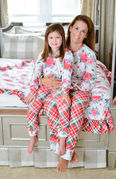 {Christmas Joy} Girls Gigi gown sets