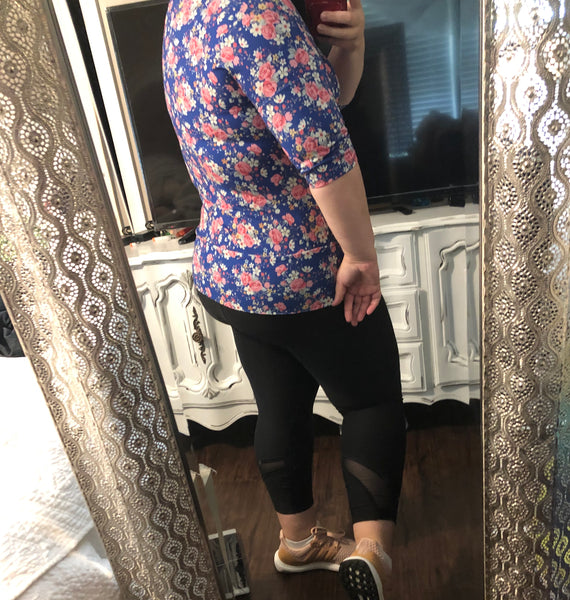 Lindsey Womens Floral Top