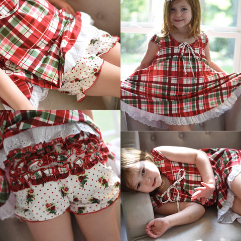 Christmas Gigi lounge set - Girls Ready to ship
