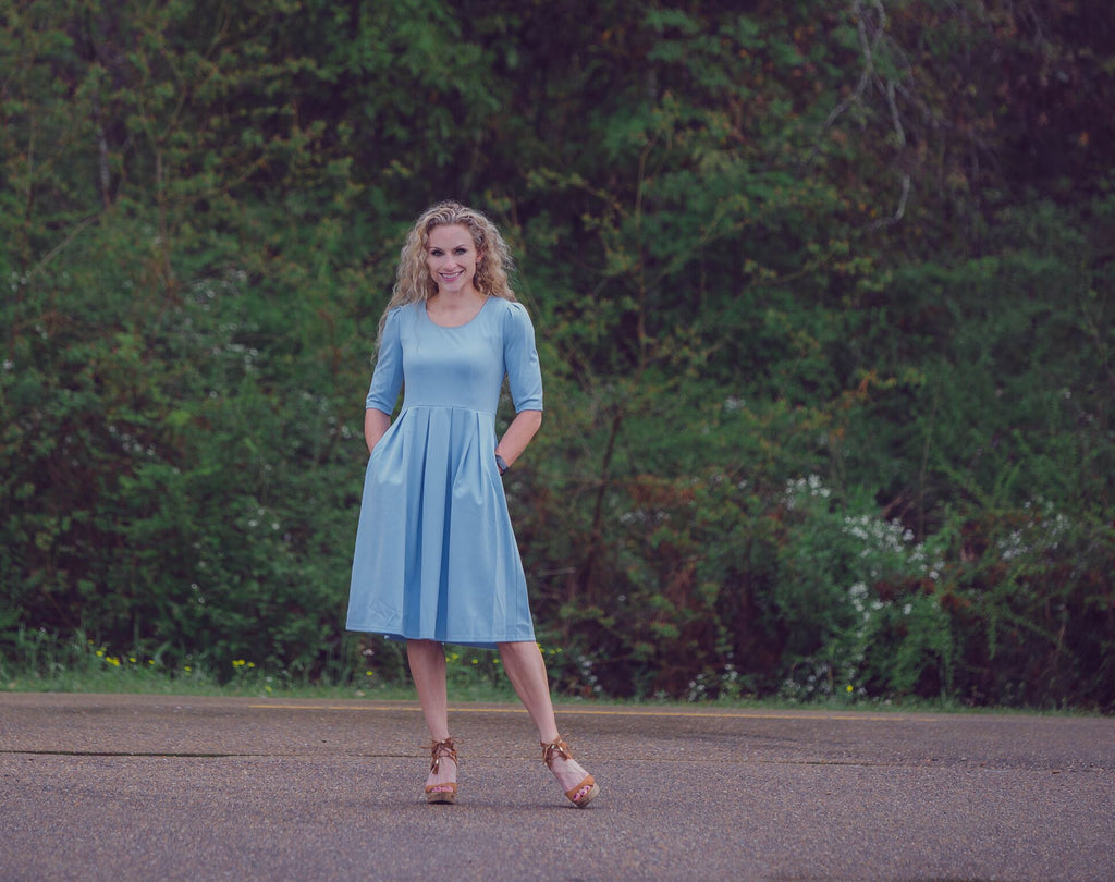 The Jackie Dress - Blue