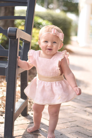 Linen - Skirted Romper