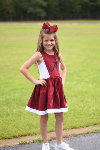2019 Spirit Line READY TO SHIP - Crimson/White Dress 6-12m