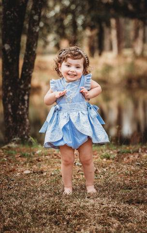 Happily Ever After Collection - Cinderella Blue Romper