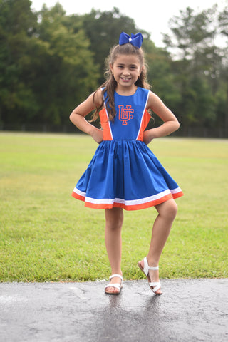 2019 Spirit Line ready to ship - Royal/Orange/White Dress 4t