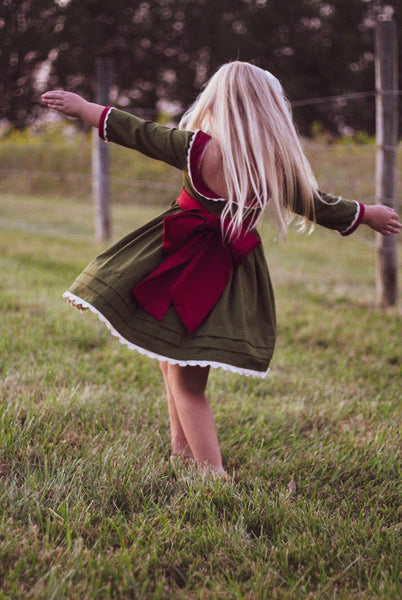 Christmas {Mistletoe Kisses} Emmaline Dress ready to ship