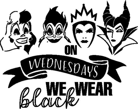 On Wednesdays We wear Black - Adult T shirt