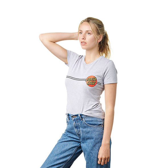 Santa Cruz Womens Classic Dot Fitted Tee - Mainland Skate & Surf