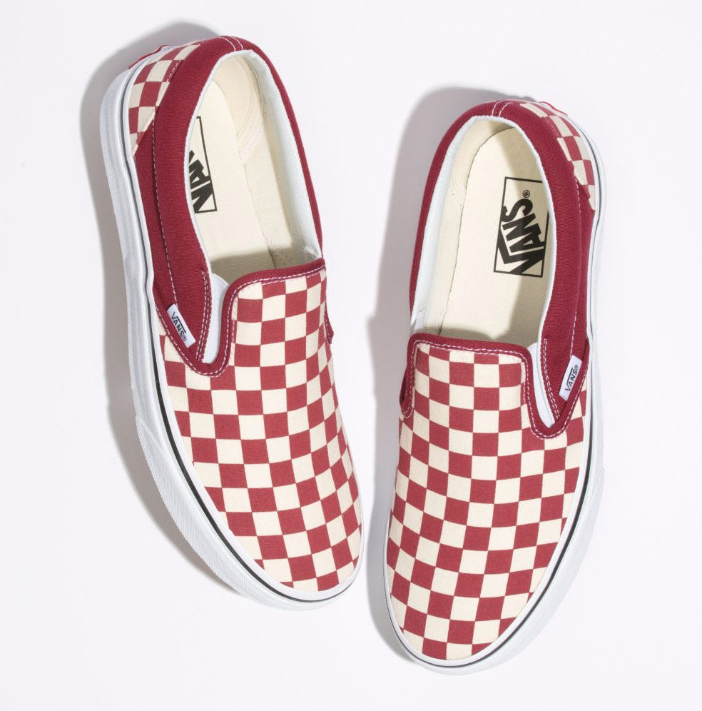 eb5a2e0356fdc7 Vans Classic Checkerboard Slip-On Shoes – Mainland Skate   Surf