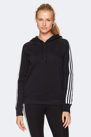 Adidas Essential Cotton Fleece 3 Stripe Pullover Hoodie