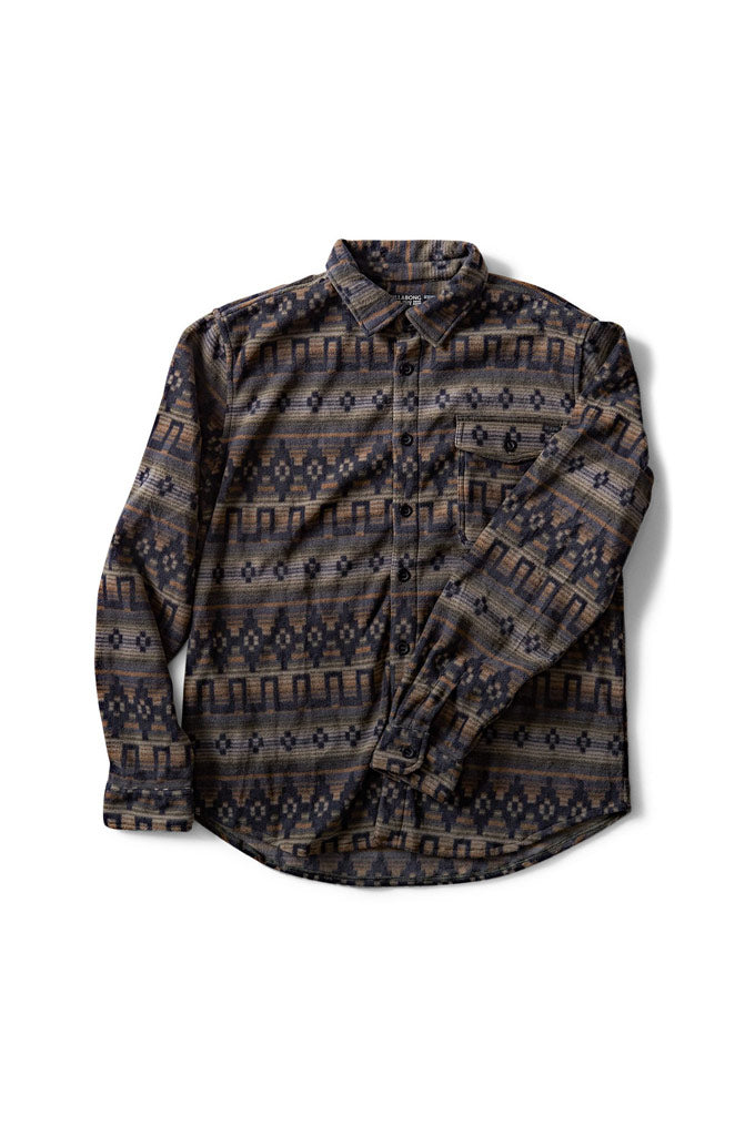 Billabong Furnace Polar Fleece Flannel Shirt