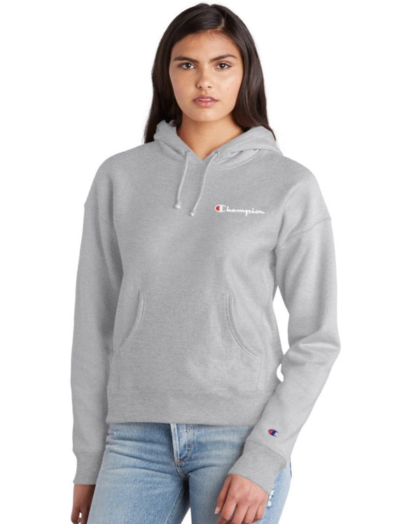 Champion Reverse Weave Women's Pullover Hoodie, Embroidered Logo - Mainland Skate & Surf