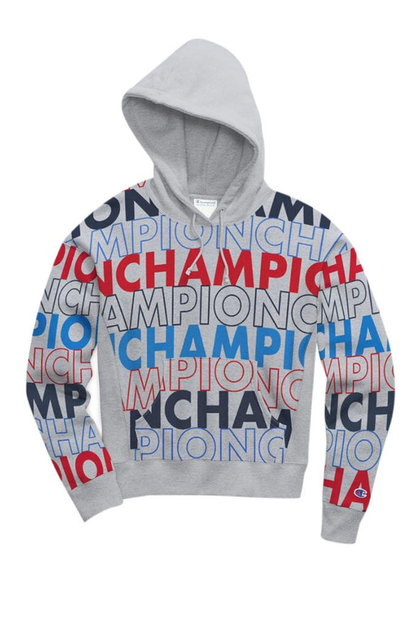 Champion Reverse Weave Pull Over Women's Hoodie, All Over Print - Mainland Skate & Surf