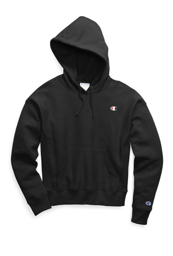 Champion Reverse Weave Women's Pullover Hoodie, C logo - Mainland Skate & Surf