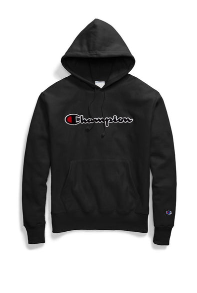Champion Reverse Weave Pullover Hoodie Chenille Script Logo - Mainland Skate & Surf