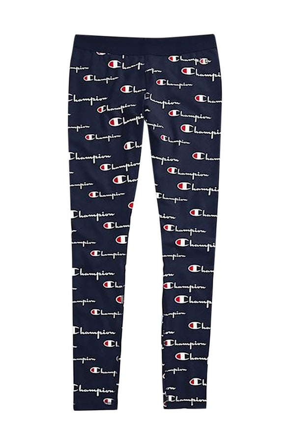 Champion Everyday Women's Tights, All Over Logo - Mainland Skate & Surf