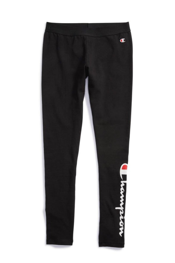 Champion Women's Tights, Vertical Logo - Mainland Skate & Surf