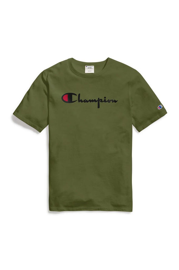 Champion Heritage Men's Tee, Flock 90s Logo - Mainland Skate & Surf