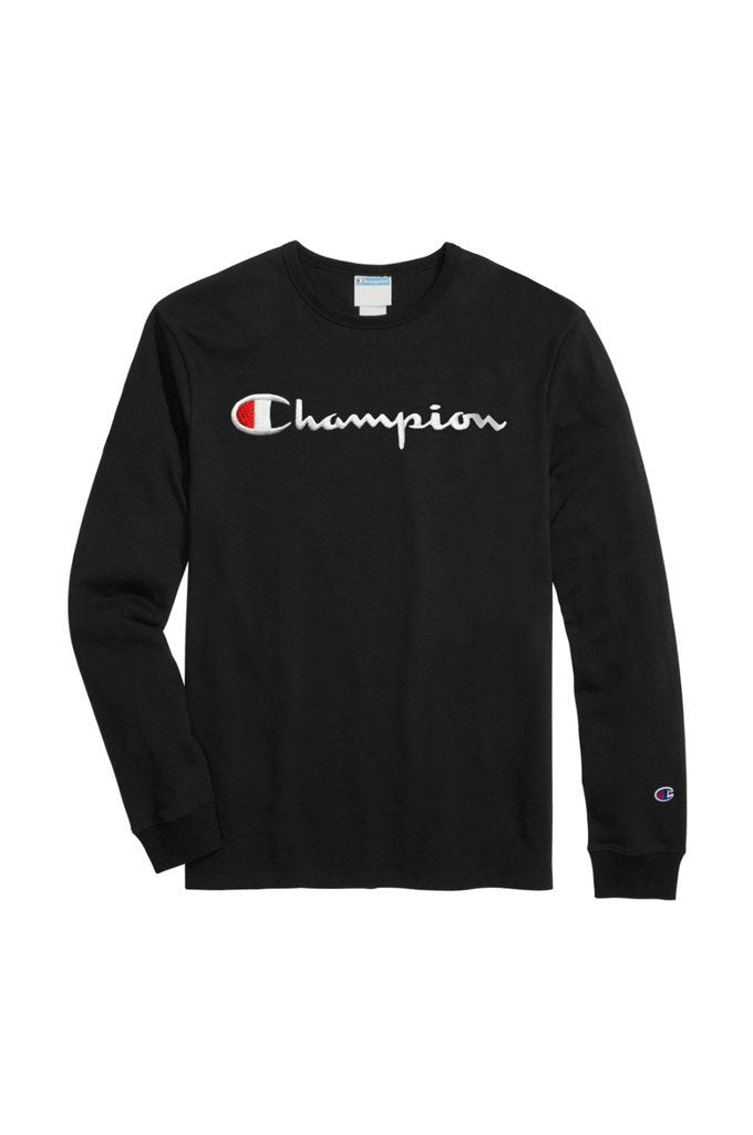 5cc297e73e7a Champion Heritage Script Embroidered Long Sleeve Tee – Mainland ...
