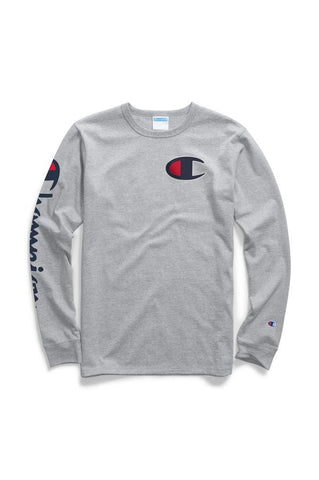 Champion Big C Logo Long Sleeve Tee