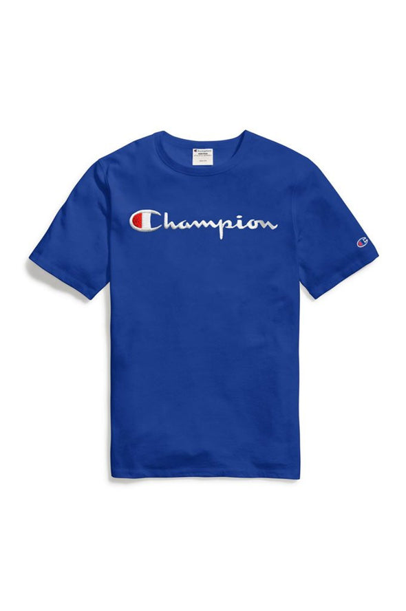 Champion Heritage Elevated Graphics Script Embroidered Tee - Mainland Skate & Surf