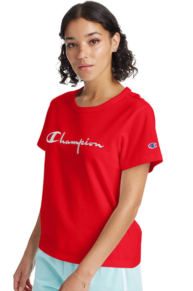 Champion The Girlfriend Women's Tee, Script Logo