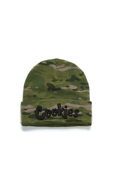 Cookies Embroidered Camo Beanie