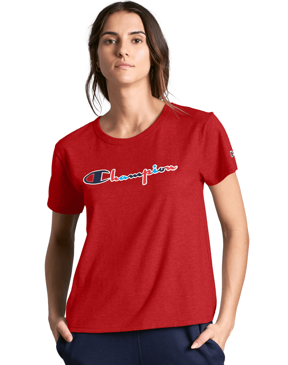 Champion Original Women's Tee, 3 Color Vintage Logo - Mainland Skate & Surf