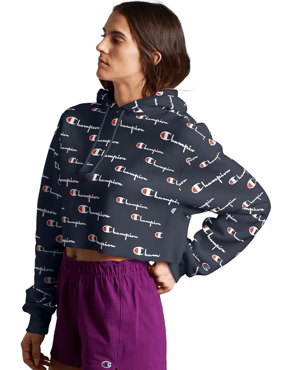 Champion Reverse Weave Cropped Cut-Off Women's Hoodie - Mainland Skate & Surf