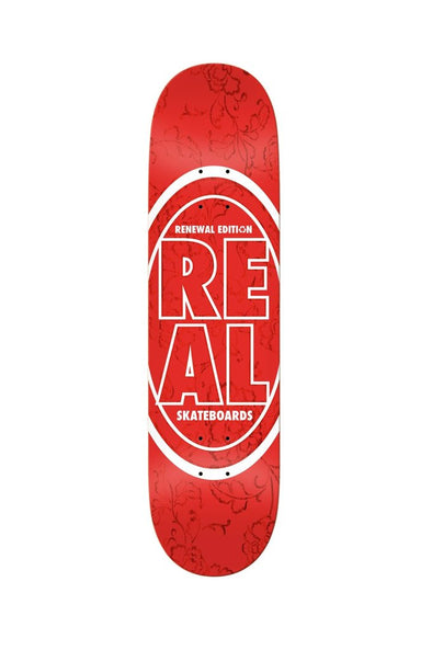"Real Stacked Oval Floral 7.75"" Deck - Mainland Skate & Surf"
