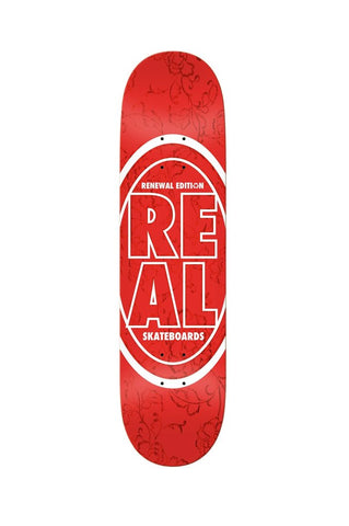 "Real Stacked Oval Floral 7.75"" Deck"