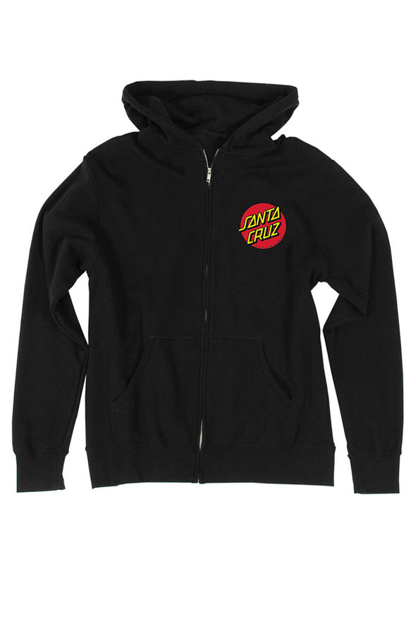 Santa Cruz Classic Dot Zip Sweatshirt - Mainland Skate & Surf