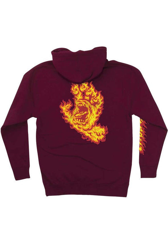 Santa Cruz Flame Hand Pull Over Hoodie - Mainland Skate & Surf