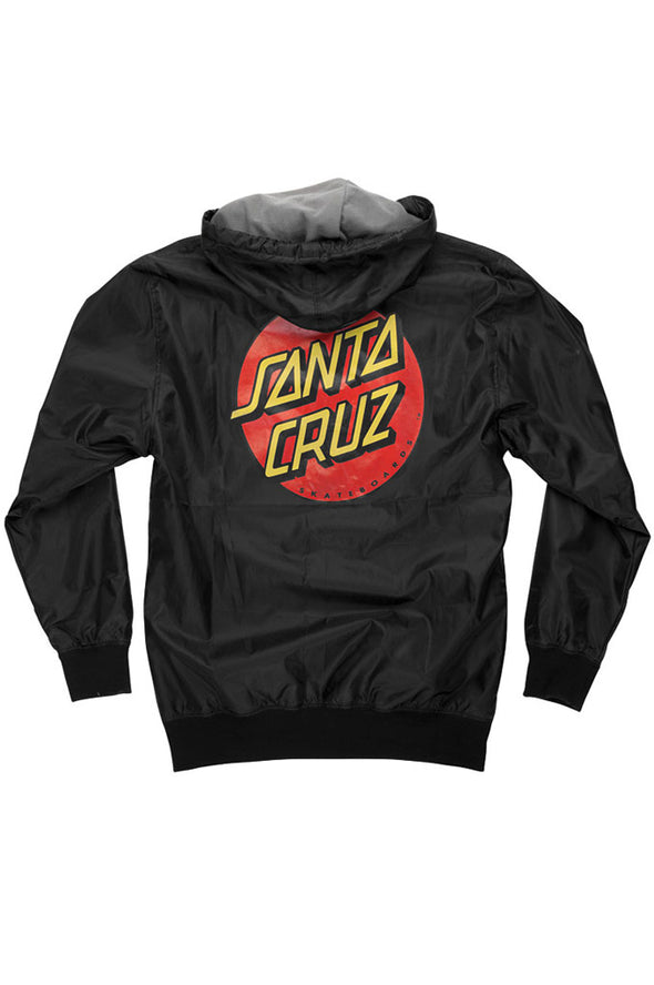Santa Cruz Dot Hooded Windbreaker Boys Youth Jacket - Mainland Skate & Surf