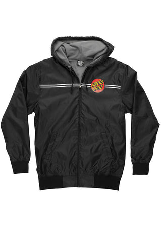 Santa Cruz Dot Hooded Windbreaker Boys Youth Jacket