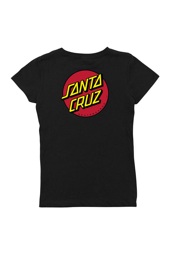 Santa Cruz Classic Dot Fitted Girls Tee - Mainland Skate & Surf
