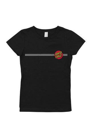 Santa Cruz Classic Dot Fitted Girls Tee