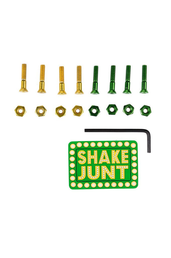 "Shake Junt SJ All Green/Yellow 1"" Allen Hardware - Mainland Skate & Surf"