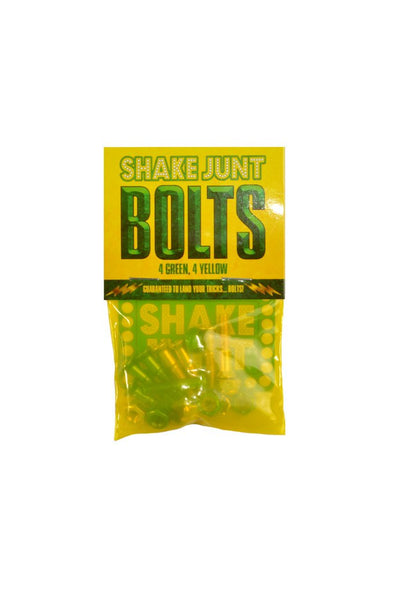 "Shake Junt SJ All Green/Yellow 1"" Phillips Hardware - Mainland Skate & Surf"